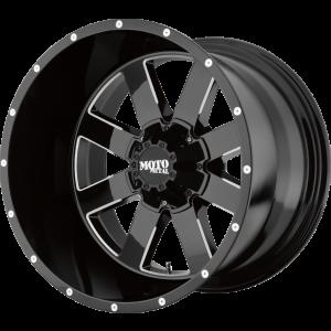 18x12 Moto Metal MO962 Gloss Black Milled