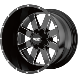 22x14 Moto Metal MO962 Gloss Black Milled