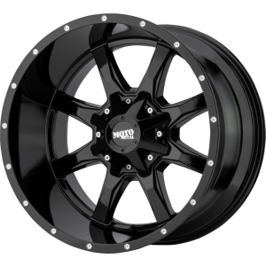 17x8 Moto Metal MO970 Gloss Black Milled Lip