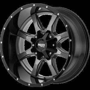 17x8 Moto Metal MO970 Gloss Gray w/ Gloss Black Lip