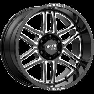 24x14 Moto Metal MO992 Gloss Black Milled