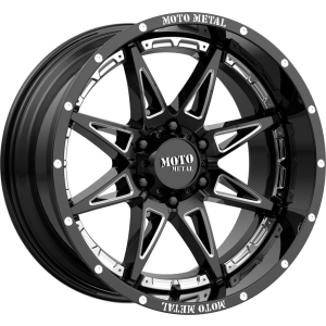 18x8.5 Moto Metal MO993 Gloss Black Milled