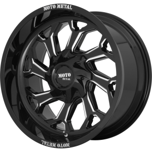 20x10 Moto Metal MO999 Gloss Black Milled