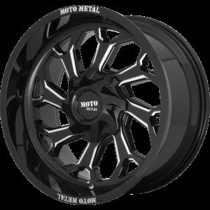 22x12 Moto Metal MO999 Gloss Black Milled