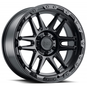 n4sm need 4 speed motorsports 17x9.5 Black Rhino Abrams Gun Black w/ Machined Dark Tint Lip 1