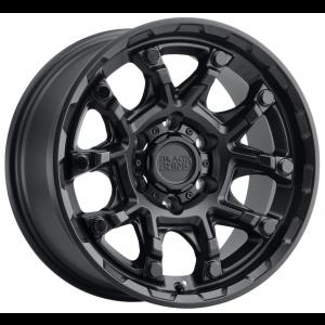 17x8.5 Black Rhino Ark Matte Black w/ Gloss Black Bolts