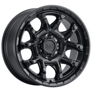 18x8.5 Black Rhino Ark Matte Black w/ Gloss Black Bolts