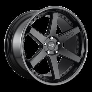 20x10.5 Niche Altair Satin Black w/ Gloss Black M192