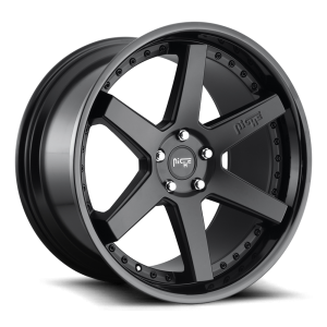 22x10 Niche Altair Satin Black w/ Gloss Black M192