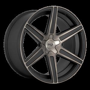 20x9 Niche Carina Matte Black w/ Machined Face & Double Dark Tint M236 (CAR)