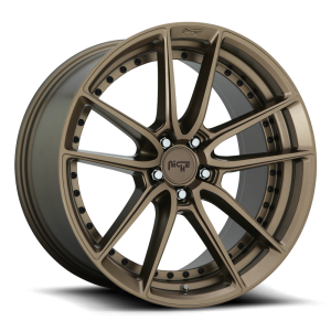 Staggered full Set - (2) 18x8 Niche DFS Bronze M222 (2) 18x9.5 Niche DFS Bronze M222