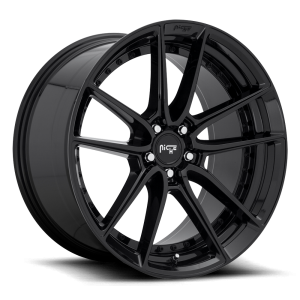Staggered full Set - (2) 18x8 Niche DFS Gloss Black M223 (2) 18x9.5 Niche DFS Gloss Black M223