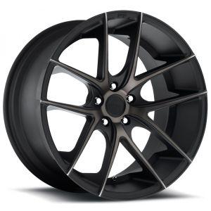 18x9.5 Niche Targa Black Machined w/ Dark Tint M130