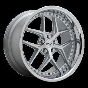 20x10.5 Niche Vice Vice Silver w/ Chrome Lip M225