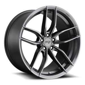 Staggered full Set - (2) 19x8.5 Niche Vosso Anthracite M204 (2) 19x9.5 Niche Vosso Anthracite M204