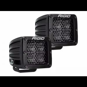 Rigid D-Series Pro Midnight Led Lights Diffused Beam Pair