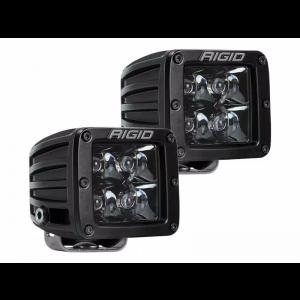 Rigid D-Series Pro Midnight Led Lights Spot Beam Pair