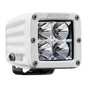 Rigid D-Series Pro White Led Cube Light Flood Beam Single