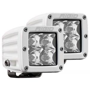 Rigid D-Series Pro White Led Cube Light Spot Beam Pair