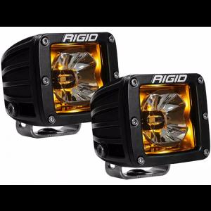 RIGID Radiance Led Light Pod - Amber w/ Wiring Harness