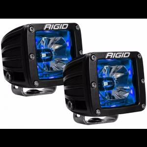 RIGID Radiance Led Light Pod - Blue w/ Wiring Harness