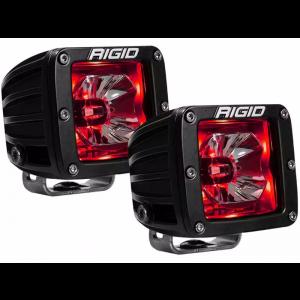 RIGID Radiance Led Light Pod - Red w/o Wiring Harness