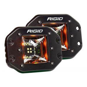 Rigid Radiance Pod Scene Lights Amber Flush Mount Pair