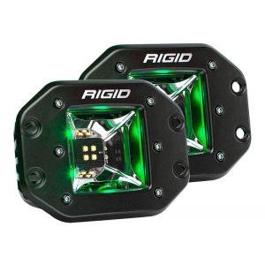 Rigid Radiance Pod Scene Lights Green Flush Mount Pair