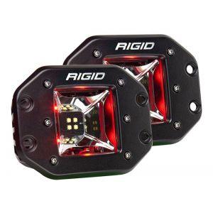 Rigid Radiance Pod Scene Lights Red Flush Mount Pair