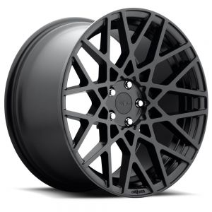 18x8.5 Rotiform BLQ All Matte Black R112