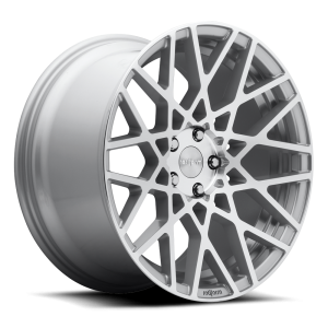18x8.5 Rotiform BLQ Silver Machined R110