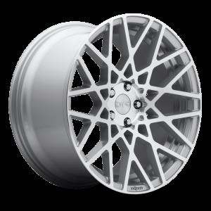 18x8.5 Rotiform BLQ Silver Machined R110