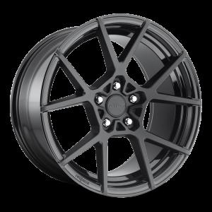 19x8.5 Rotiform KPS Matte Black w/ Gloss Black Windows R139