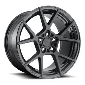 20x9.5 Rotiform KPS Matte Black w/ Gloss Black Windows R139