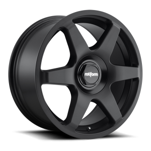 18x8.5 Rotiform SIX Matte Black R113
