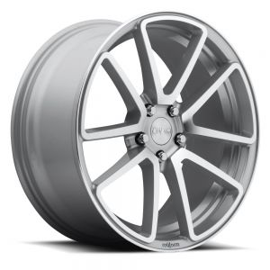 18x8.5 Rotiform SPF Silver Machined R120