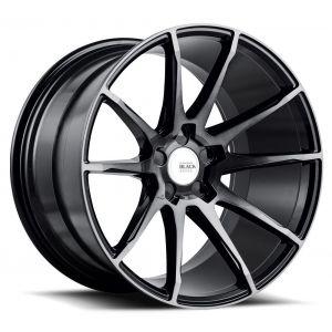 19x9.5 Savini Black Di Forza BM12 Gloss Black w/ Double Dark Tint Face (Concave)