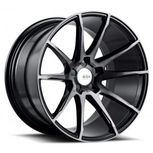 20x10.5 Savini Black Di Forza BM12 Gloss Black w/ Double Dark Tint Face (Concave)