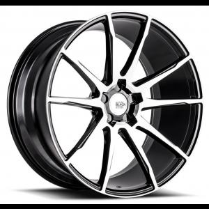 19x9.5 Savini Black Di Forza BM12 Gloss Black w/ Machined Face (Concave)