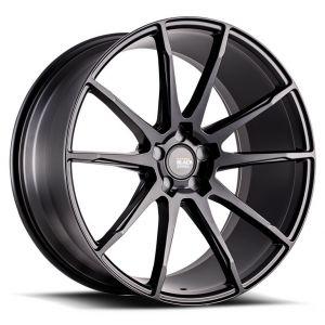 20x10 Savini Black Di Forza BM12 All Matte Black (Concave)