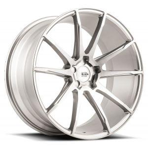 19x9.5 Savini Black Di Forza BM12 Brushed Silver (Concave)