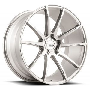 20x10 Savini Black Di Forza BM12 Brushed Silver (Concave)