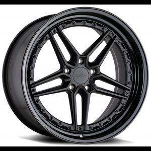 Staggered full Set - (2) 20x9 TSW Ascari Matte Black w/ Gloss Black Lip (2) 20x10.5 TSW Ascari Matte Black w/ Gloss Black Lip