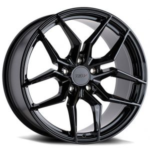Staggered full Set - (2) 18x8.5 TSW Silvano Gloss Black (2) 18x9.5 TSW Silvano Gloss Black