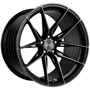 19x8.5 Vertini RF1.8 Dual Gloss Black (Rotary Forged)
