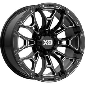 20x10 XD Series XD841 Boneyard Gloss Black w/ Red Tint