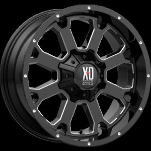 20x12 XD Series XD825 Buck 25 Gloss Black Milled