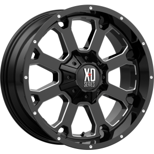 22x10 XD Series XD825 Buck 25 Gloss Black Milled