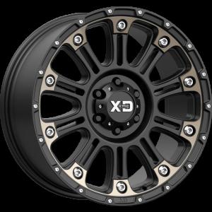 22x12 XD Series XD829 Hoss II Satin Black Machined w/ Dark Tint