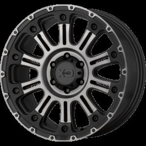 18x9 XD Series XD829 Hoss II Satin Black Machined w/ Gray Tint